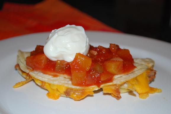 burrito + salsa + sour cream