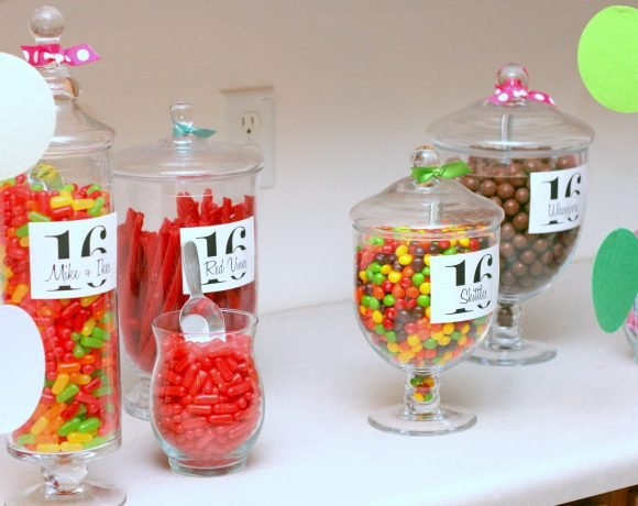 sweet 16 candy bar