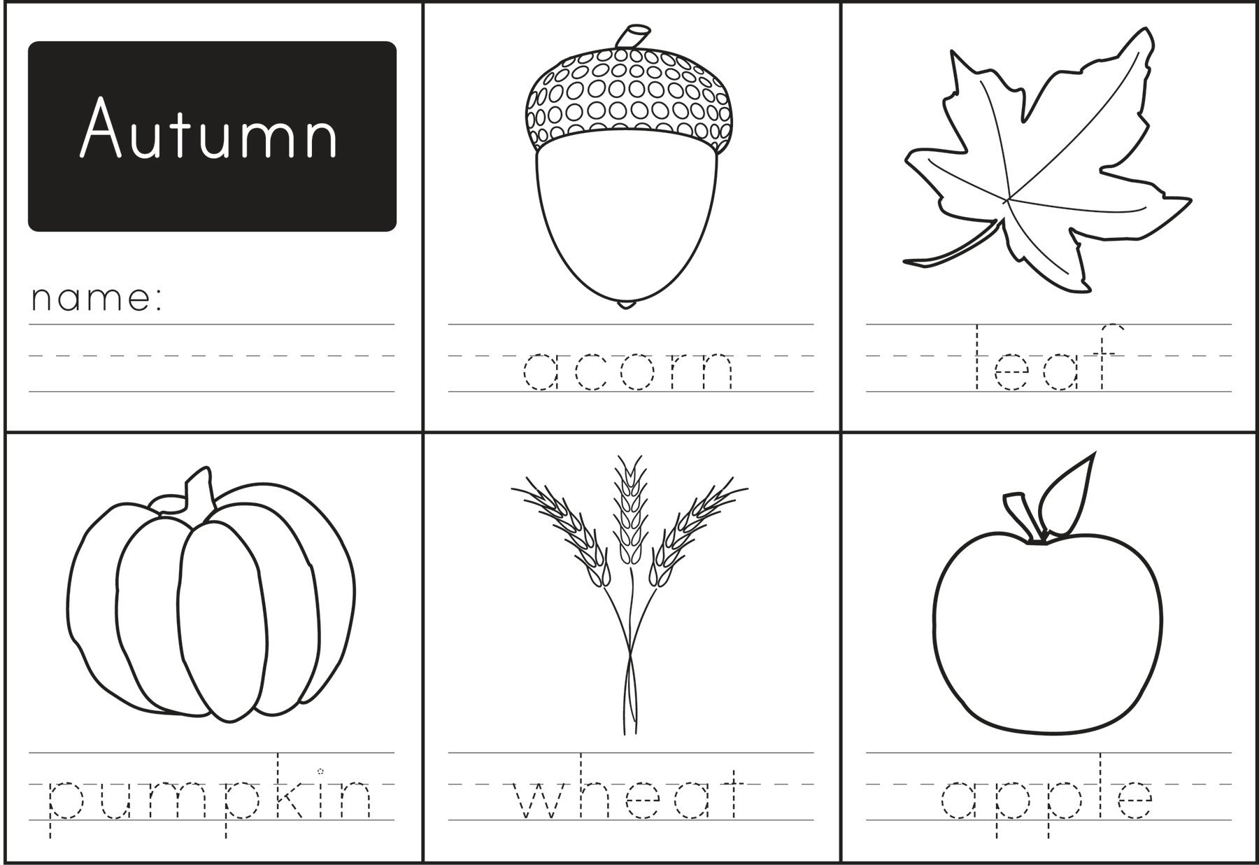 Free Printable: Autumn Words