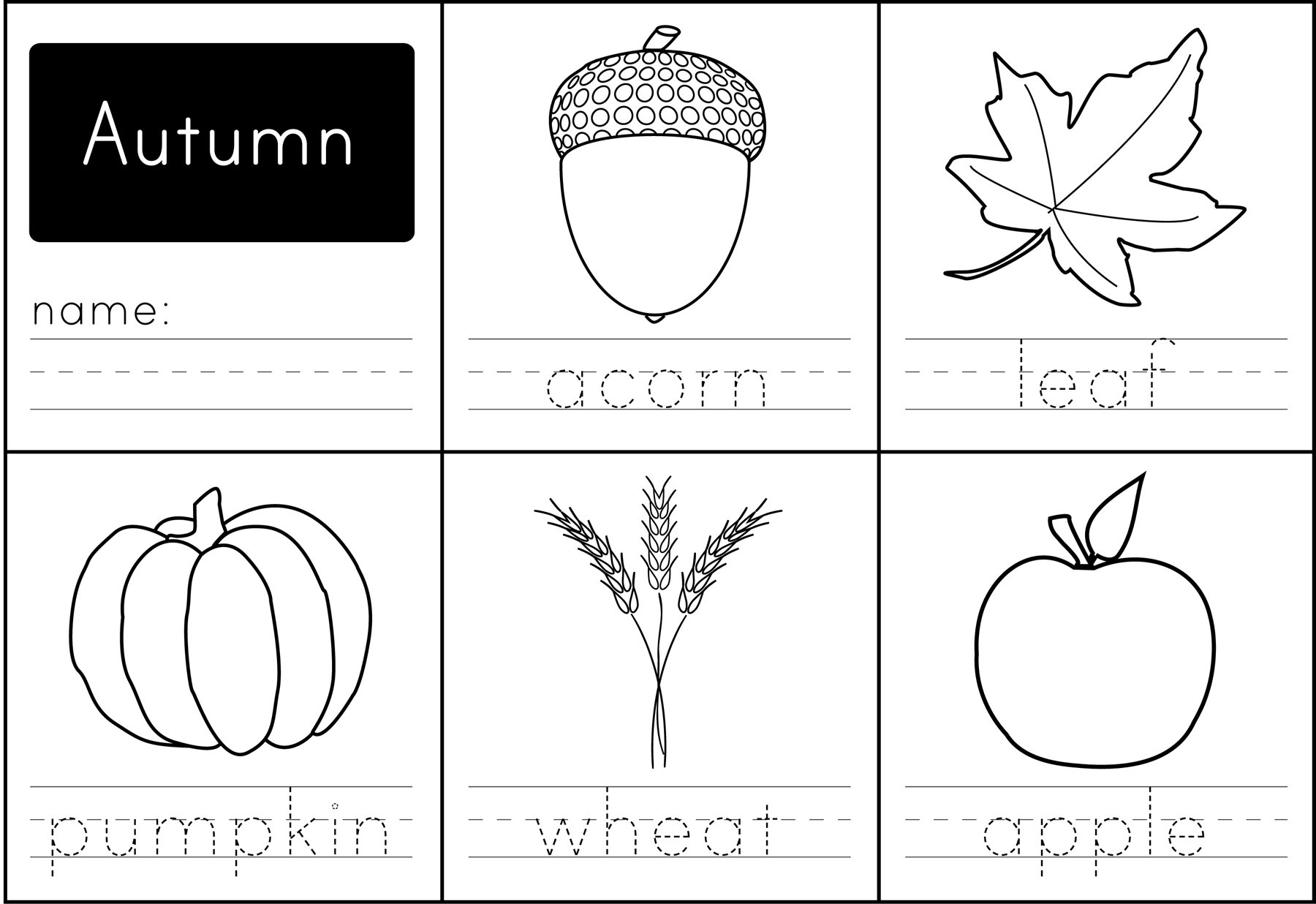 Worksheets Autumn Worksheets free printable autumn words paging supermom
