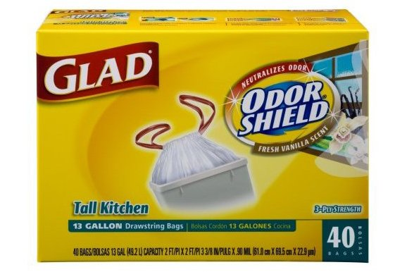 glad vanilla scented kitchen liners