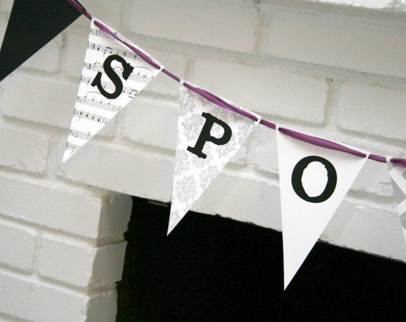 DIY Spooky Halloween Banner