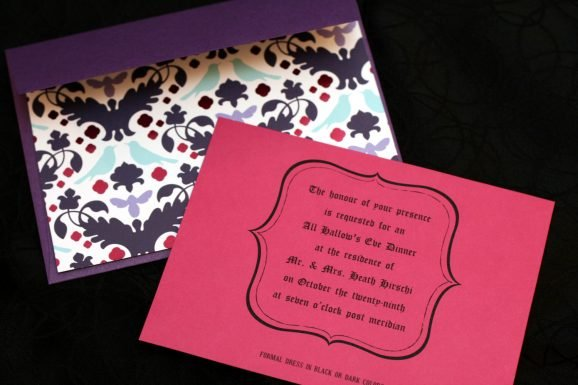 Colorful Halloween Party Invite