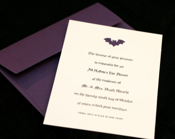 Bat Halloween Party Invitation