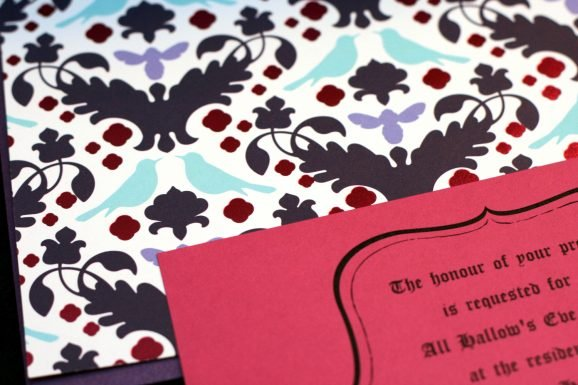 Closeup of Colorful Halloween Party Invite