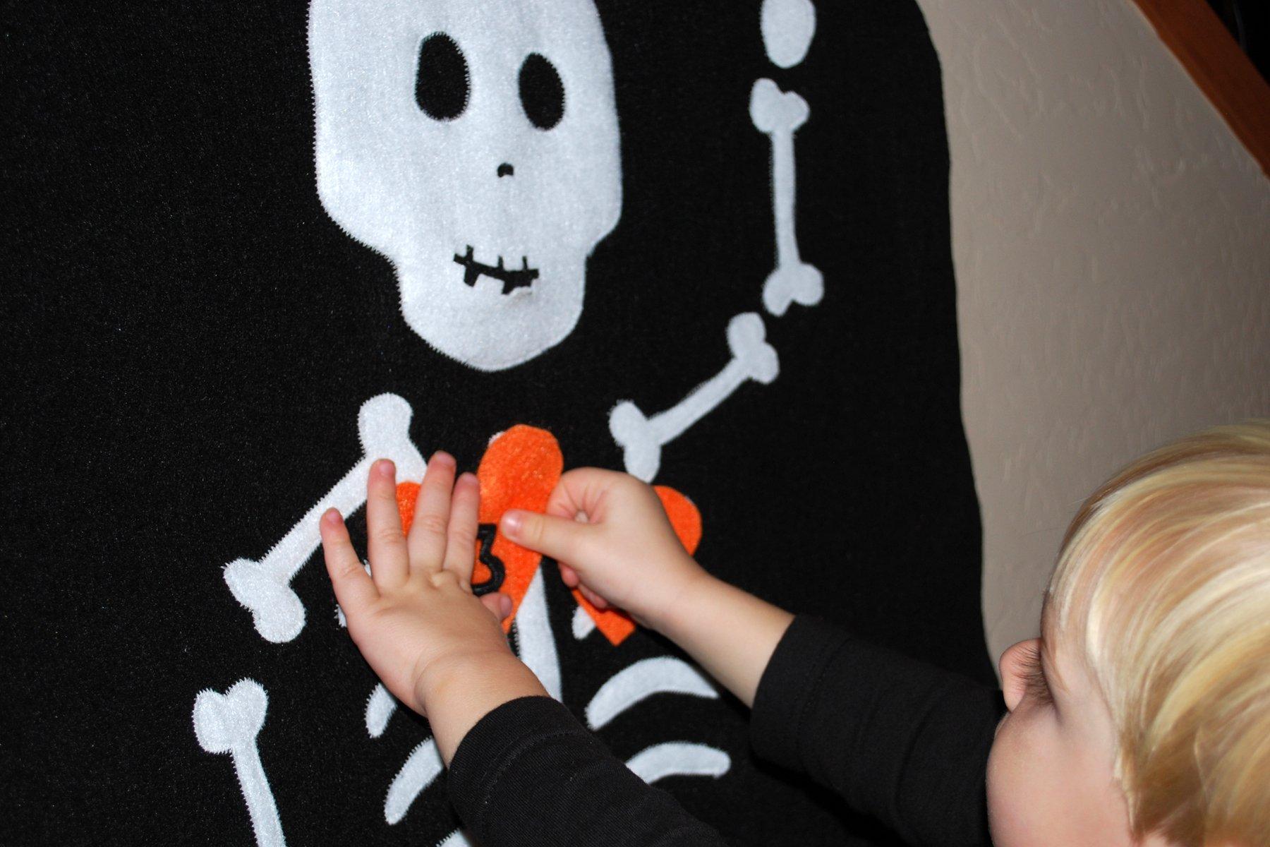 Pin Heart on Skeleton