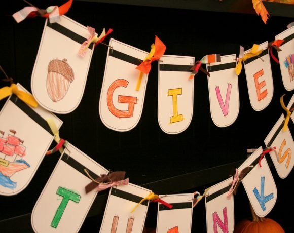 Color Me Thankful Banner