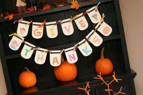 Give Thanks Printable Banner