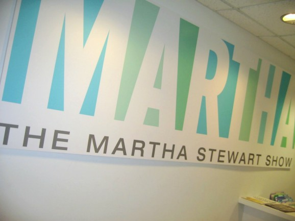 Martha Stewart Show sign inside