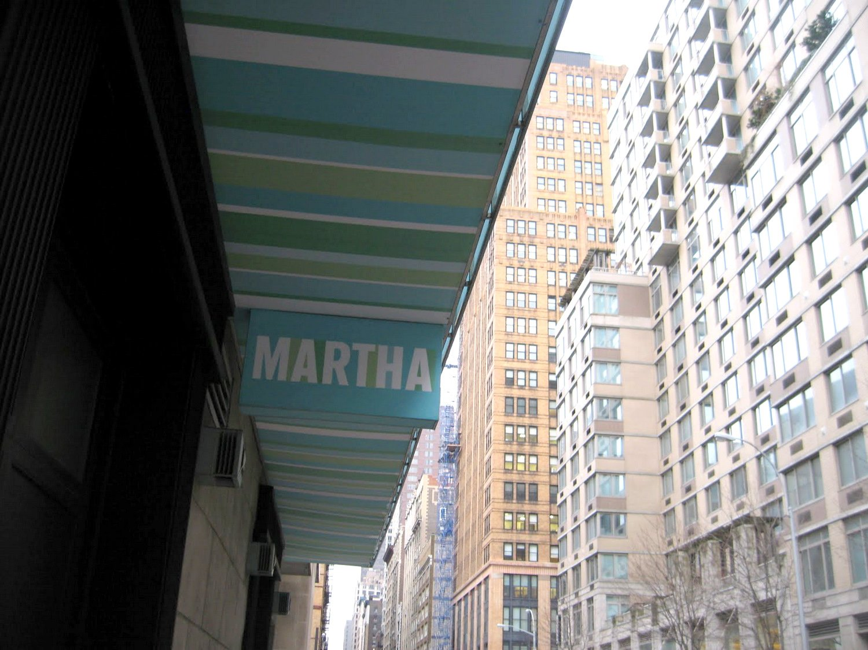 Martha Cool Stripe Awning