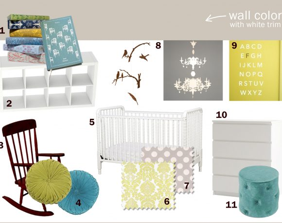 Baby's Room Inspiration Board