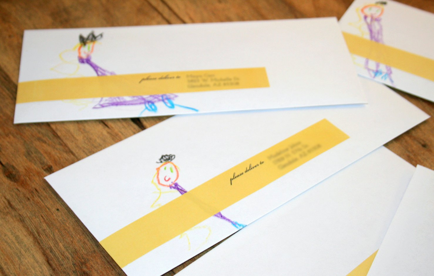 Tangled Birthday Invites Addressed and Ready!