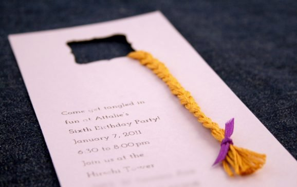 Rapunzel Tower Birthday Party Invitation Finished!