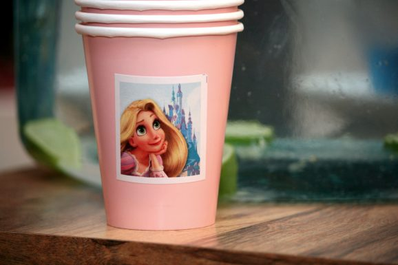 Tangled Rapunzel Party Cups