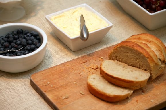 Tangled Party Food: Homemade Bread Orange Butter Blueberries