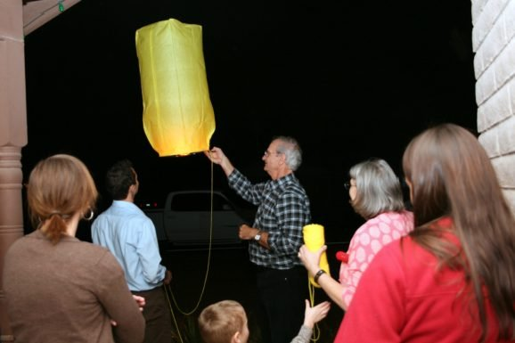 Tangled Sky Lantern Party Send-off