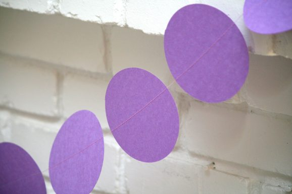 Purple Fireplace Circle Banner Closeup