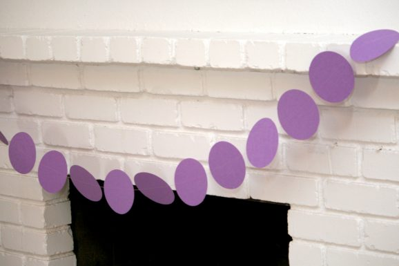 Purple Fireplace Circle Banner