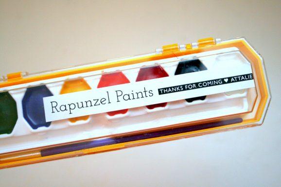 Rapunzel Paints Tangled Party Favor