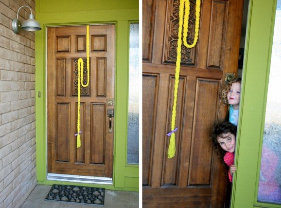Rapunzel Braid Front Door Party Decor
