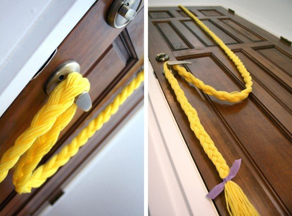 Tangled Birthday Party Braid Door Hanger