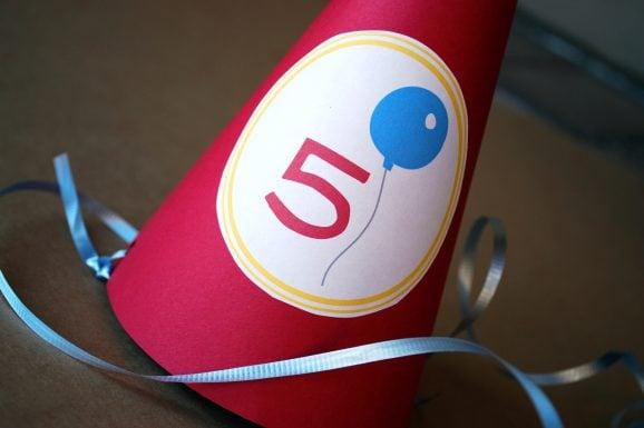 preschool career day logo on party hat