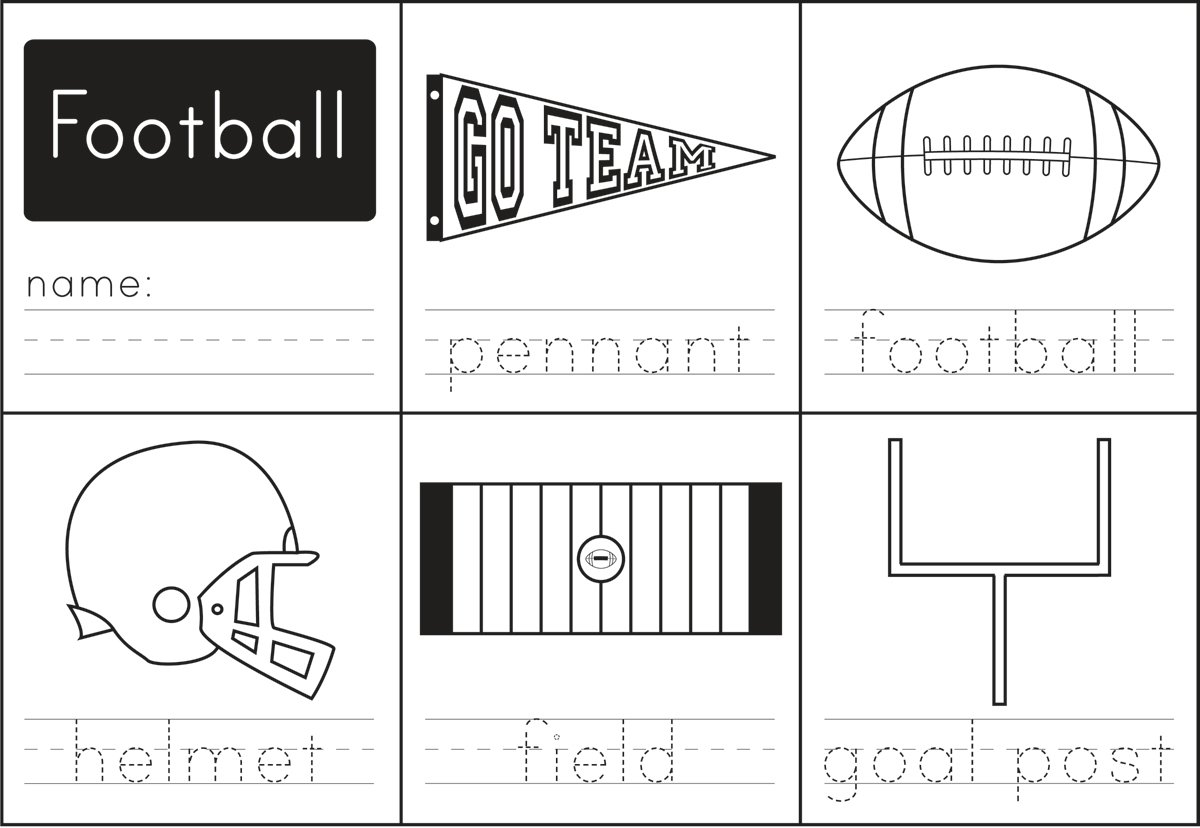 activities for the big game - Printables Activities For Kids