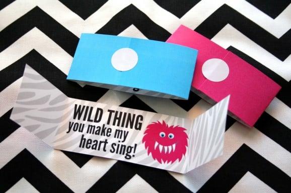 Wild Thing Free Printable Valentine