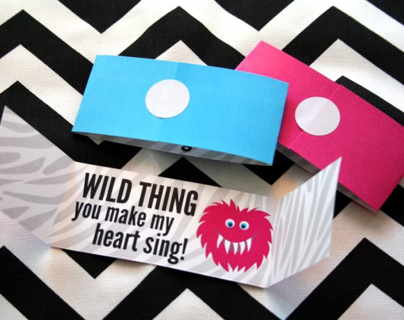 Wild Thing Printable Valentines