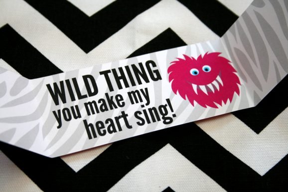 Wild Thing Printable Valentine for Teens