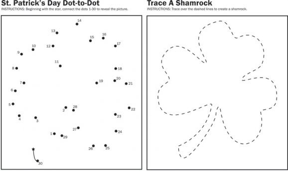 Shamrock Worksheets for Kindergarten and Preschool