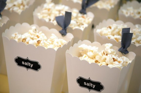 Adorable Popcorn Boxes Close-up