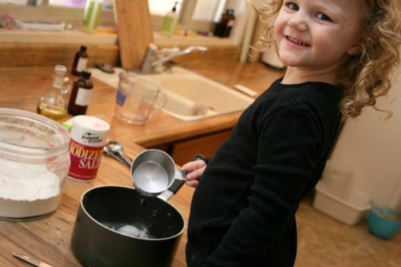 Little Helper Making Play-Dough