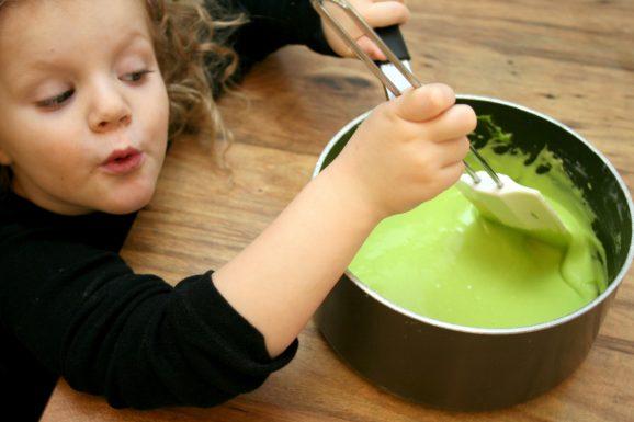 Stirring Playdough