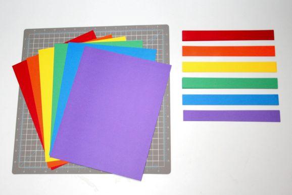 Rainbow Mobile Project Using Paper Scraps