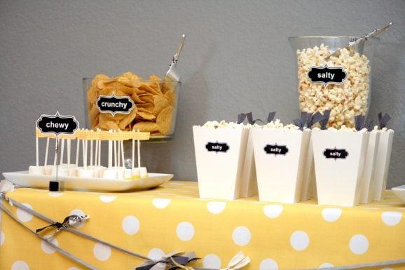 Pregnancy Cravings Baby Shower Food Labels