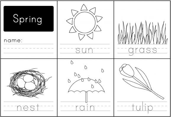 image regarding Spring Printable Worksheets known as Spring Handwriting Printable - Paging Supermom