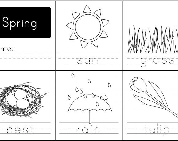 Spring Free Handwriting Printable Worksheet