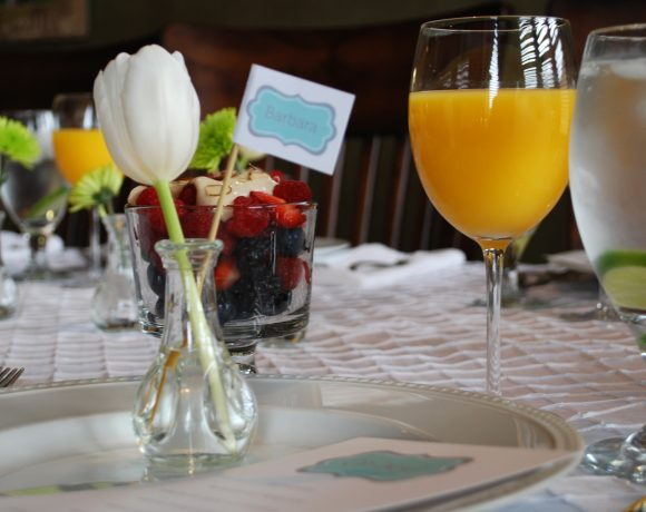 oh boy baby shower brunch place setting