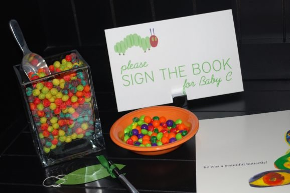 hungry caterpillar baby shower party book