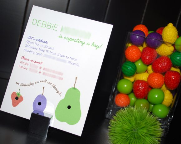 hungry caterpillar baby shower party invitation