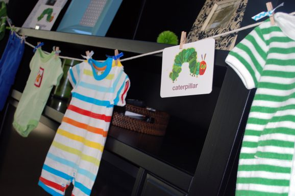hungry caterpillar party clothesline
