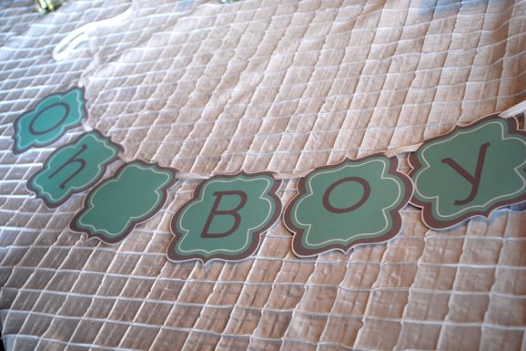 boy baby shower banner