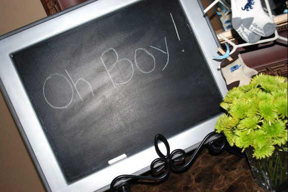boy baby shower oh boy chalkboard