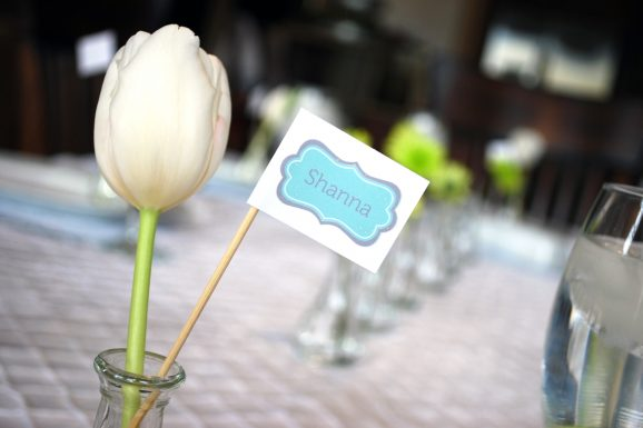 boy baby shower placecards