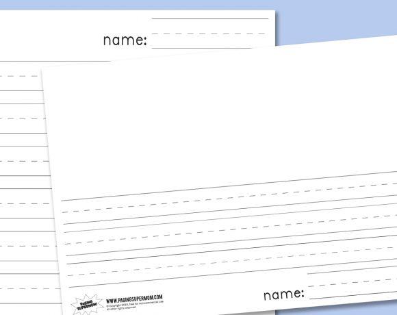 Kindergarten Blank Lined Paper
