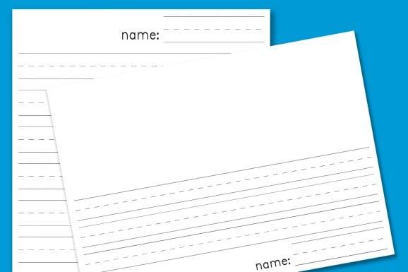 Free Printable Kindergarten Blank Lined Paper