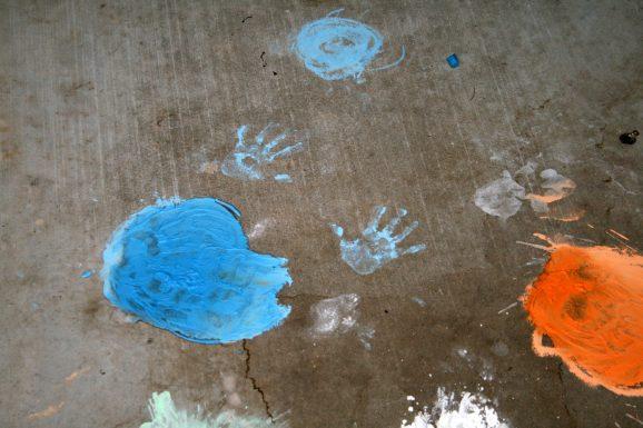 Chalk Handprints
