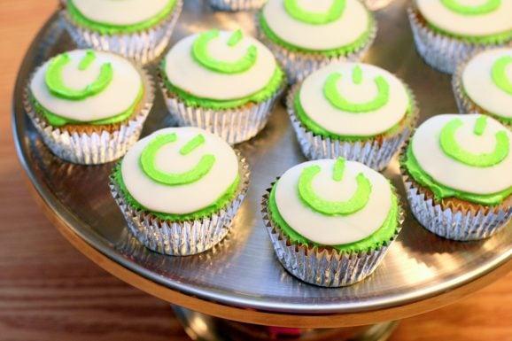 Power Button Cupcakes