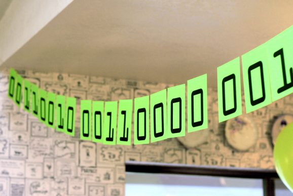 2011 Binary Code Banner Party Decoration
